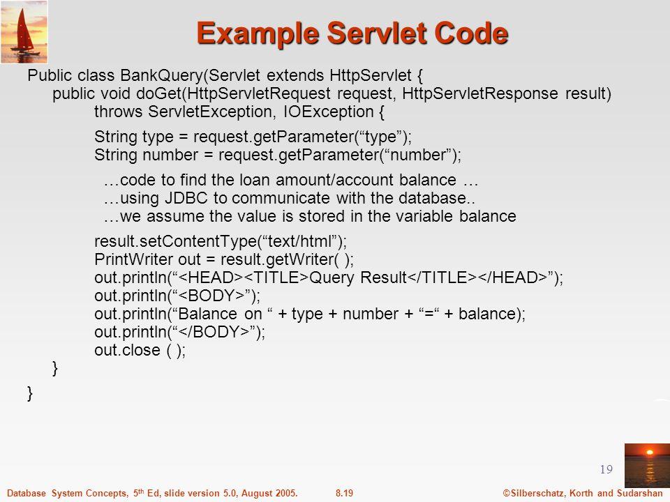 Example Servlet Code