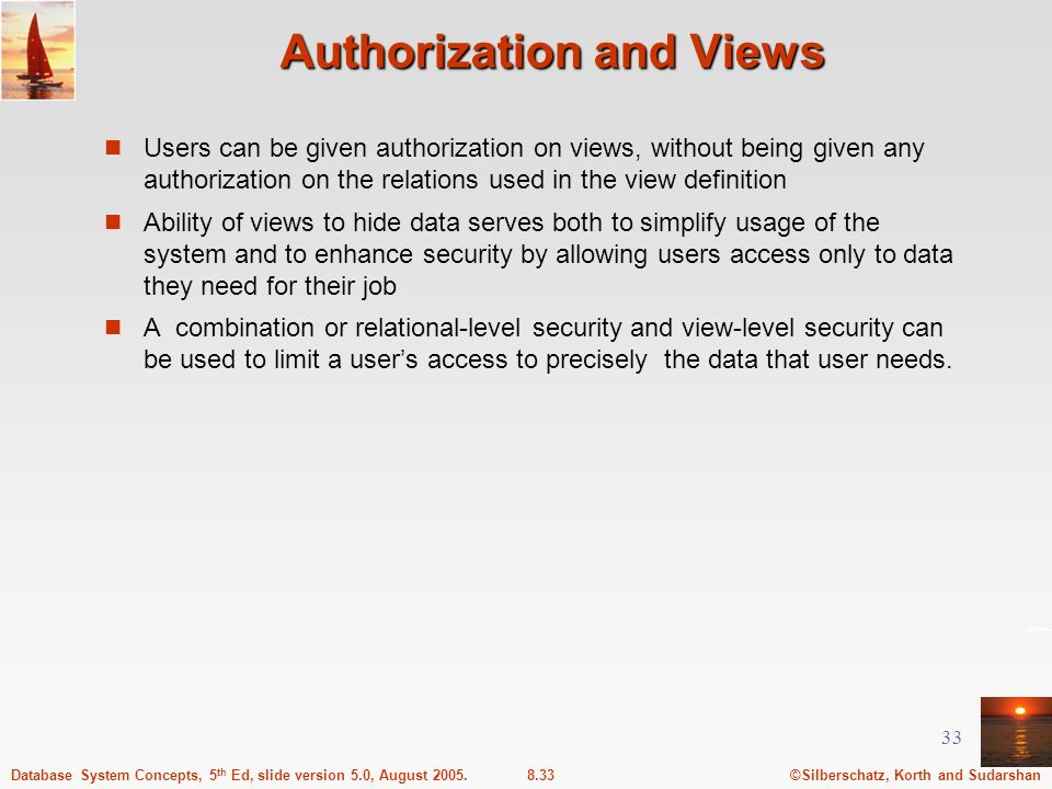 Authorization and Views