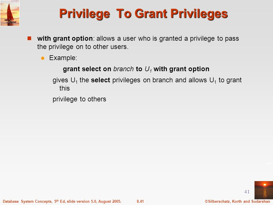 Privilege To Grant Privileges