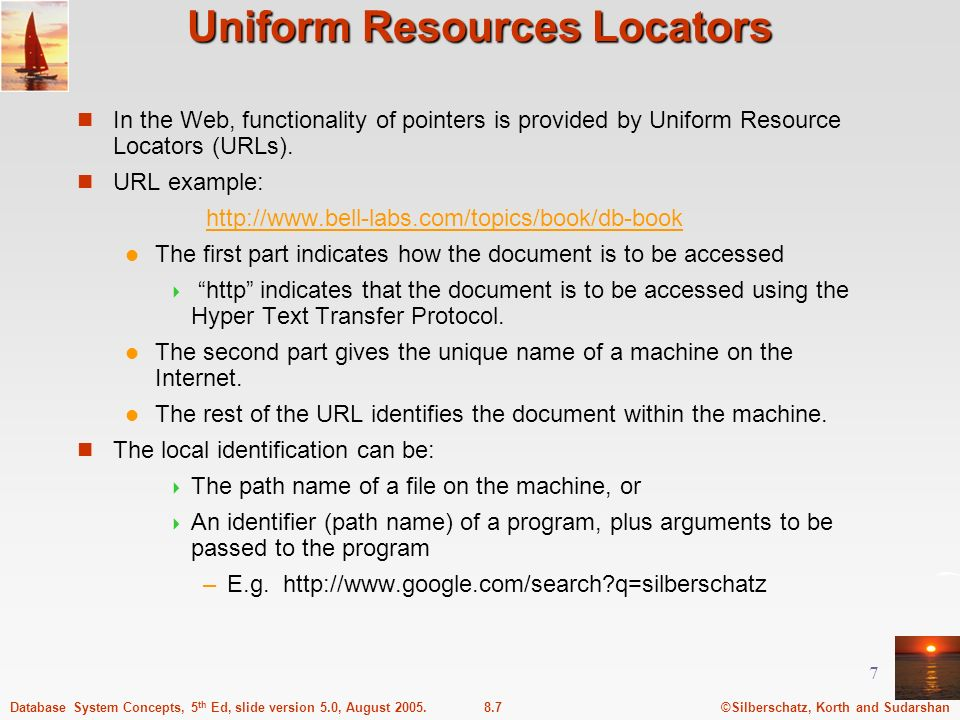 Uniform Resources Locators