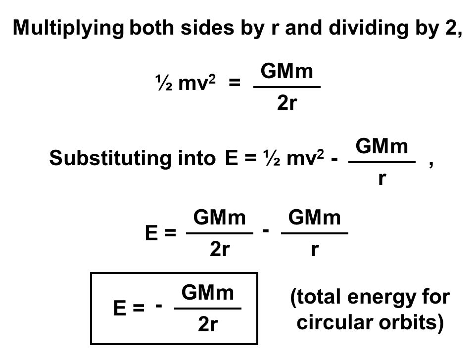 Multiplying both sides by r and dividing by 2,