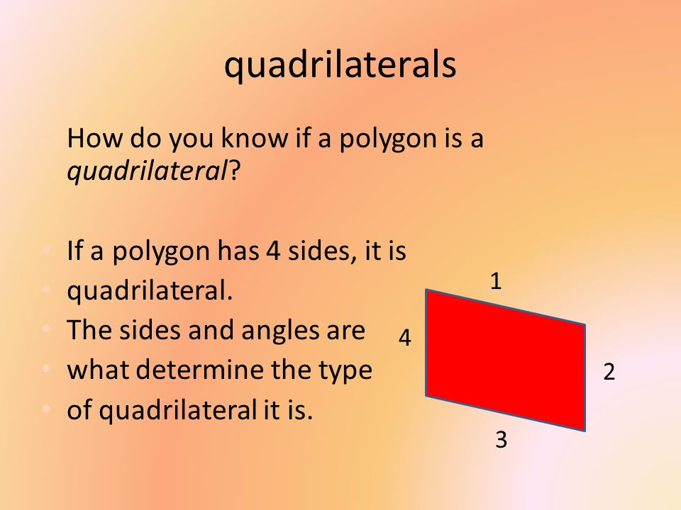 quadrilaterals How do you know if a polygon is a quadrilateral