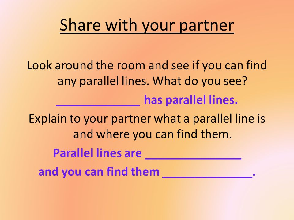 Share with your partner