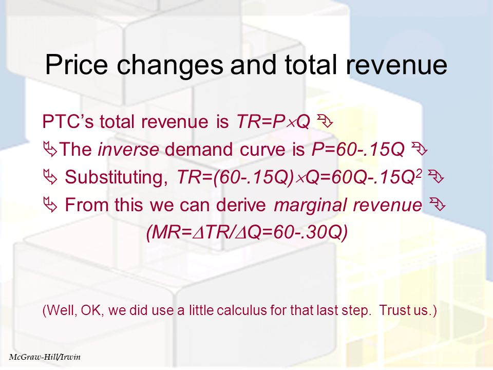 Price changes and total revenue
