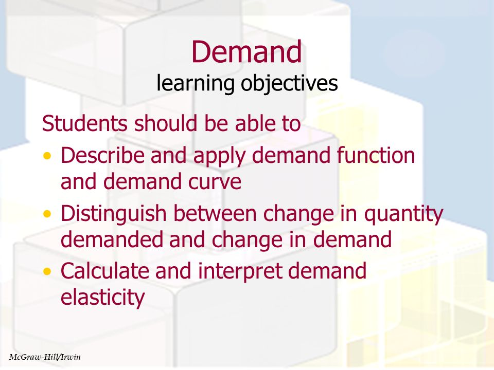 Demand learning objectives