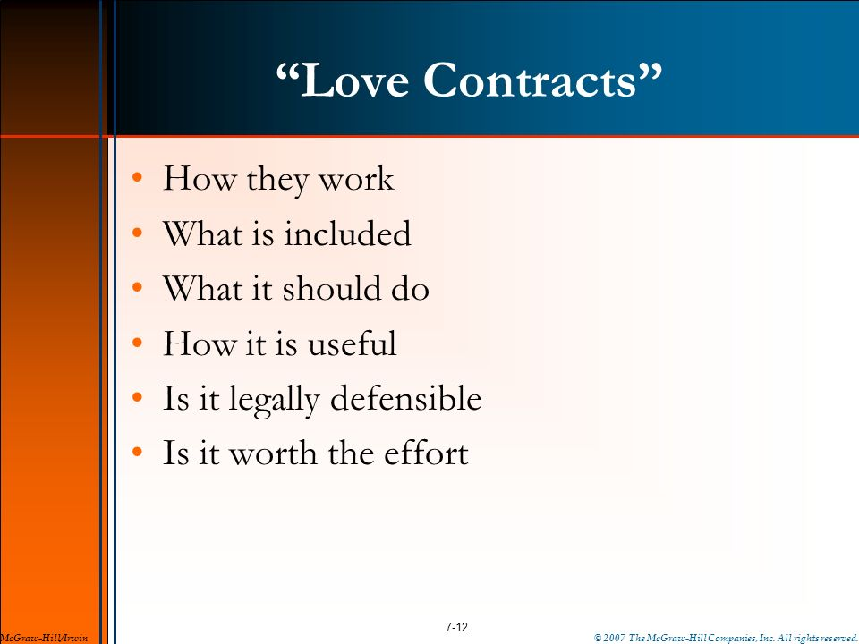 Love Contracts How they work What is included What it should do