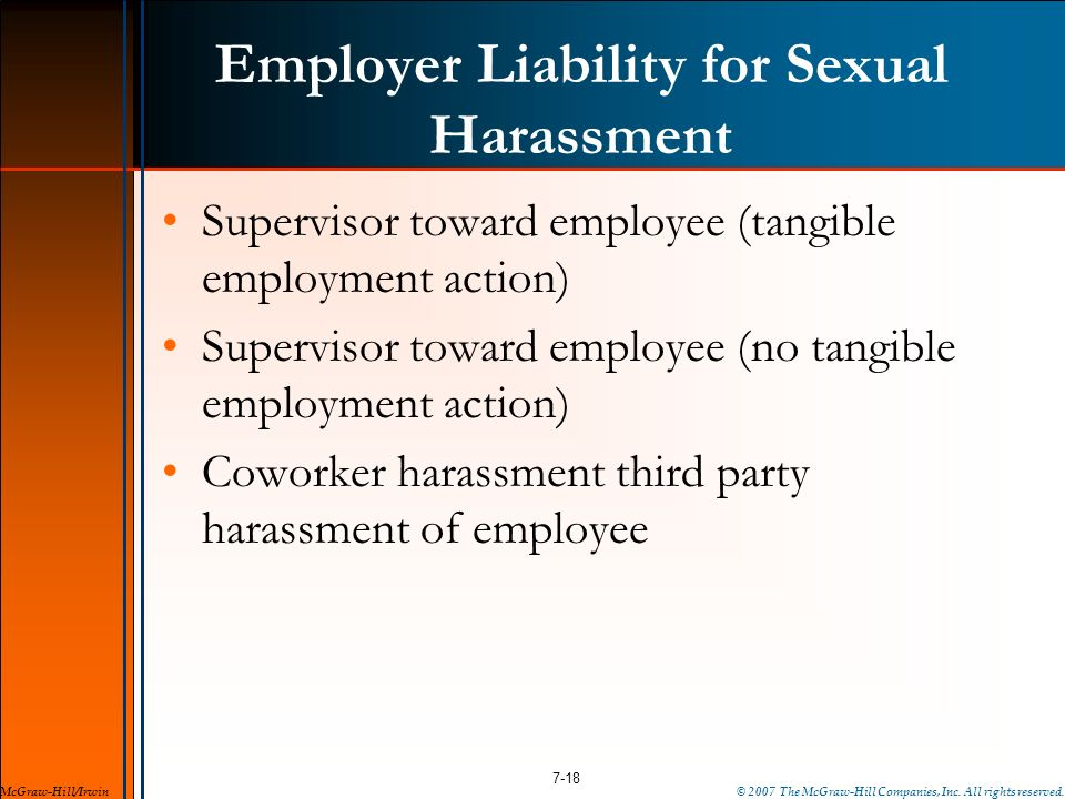Employer Liability for Sexual Harassment