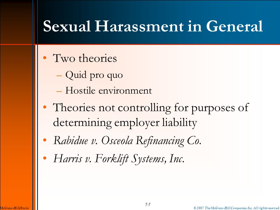 Sexual Harassment in General