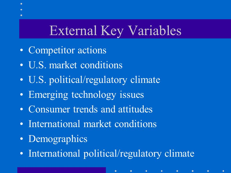 External Key Variables