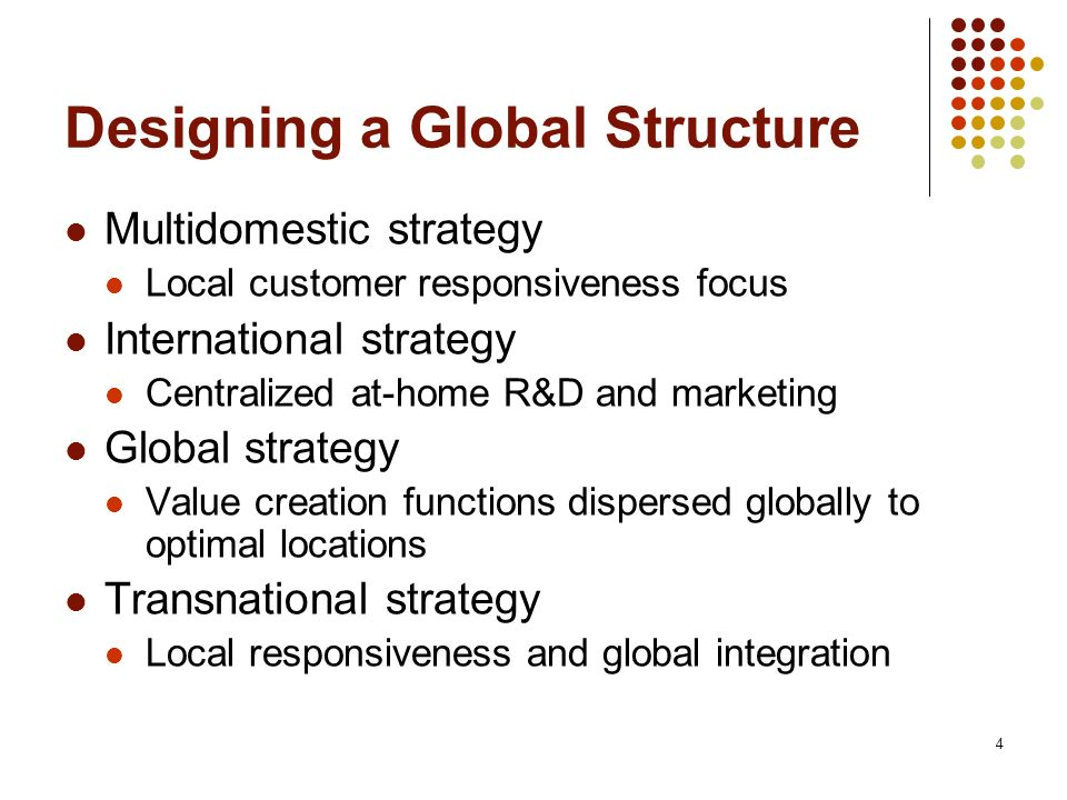 Designing a Global Structure