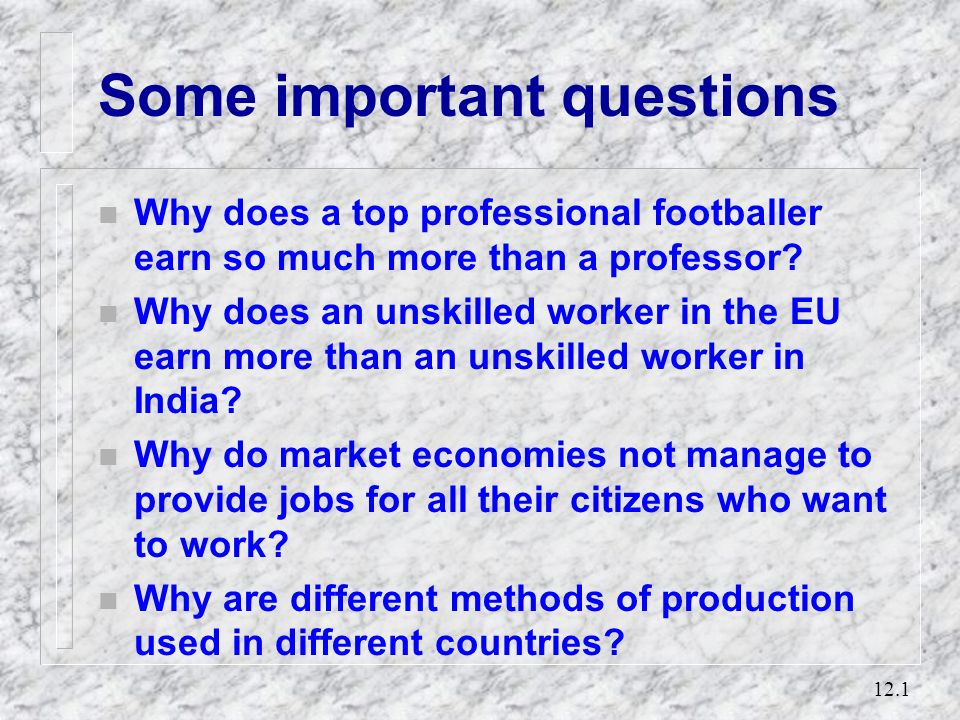 Some important questions
