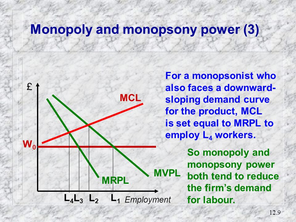 Monopoly and monopsony power (3)