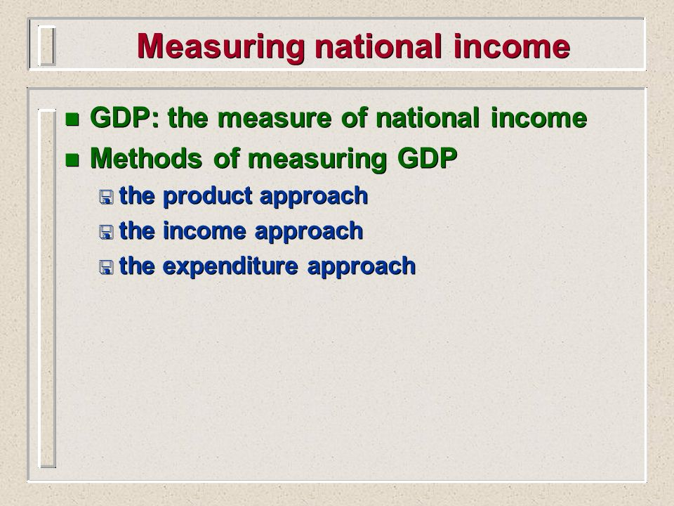 Measuring national income