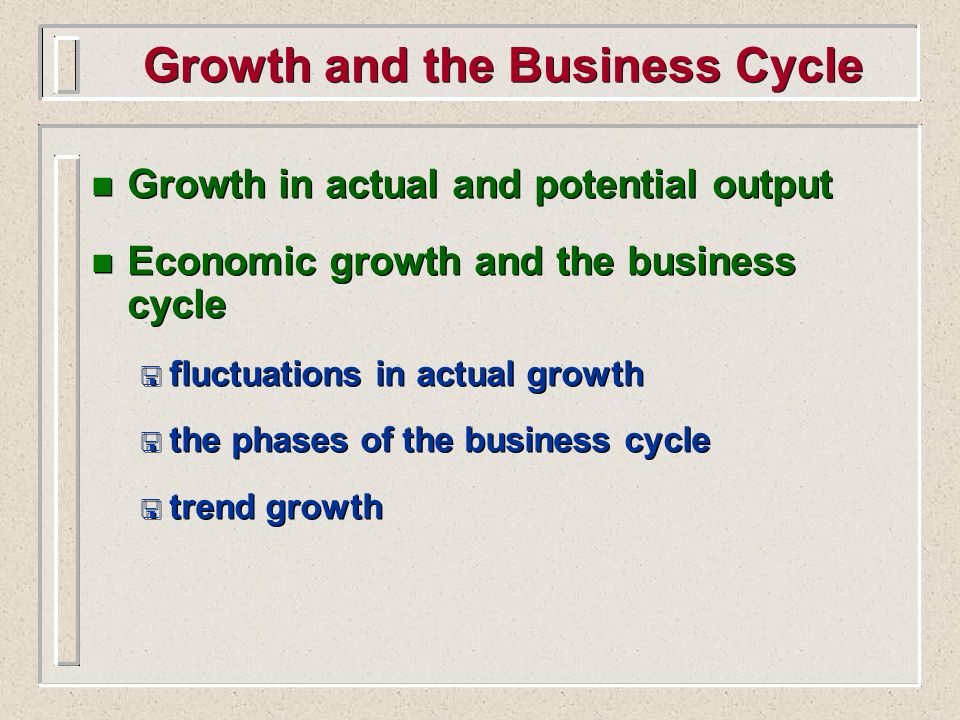 Growth and the Business Cycle