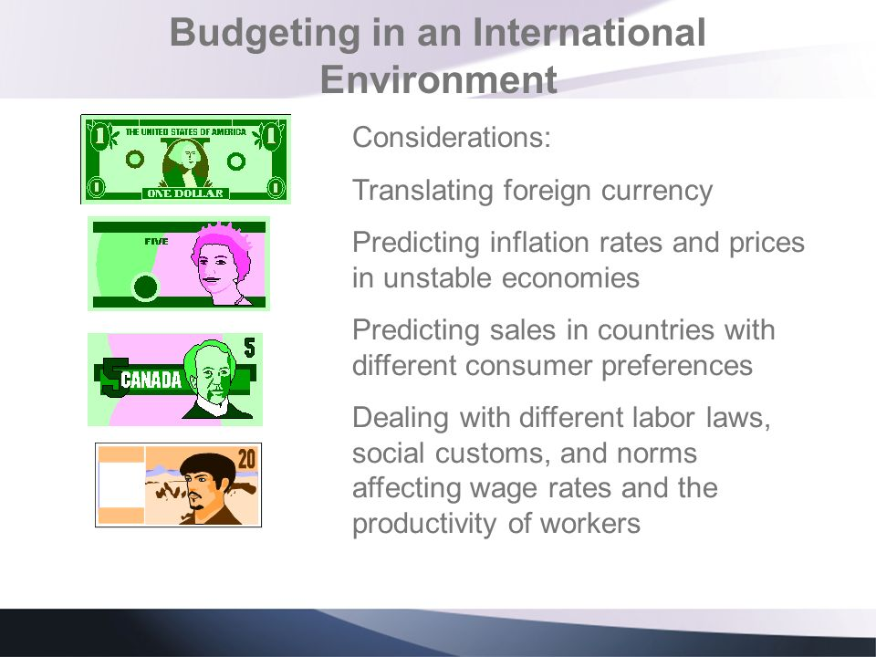 Budgeting in an International Environment