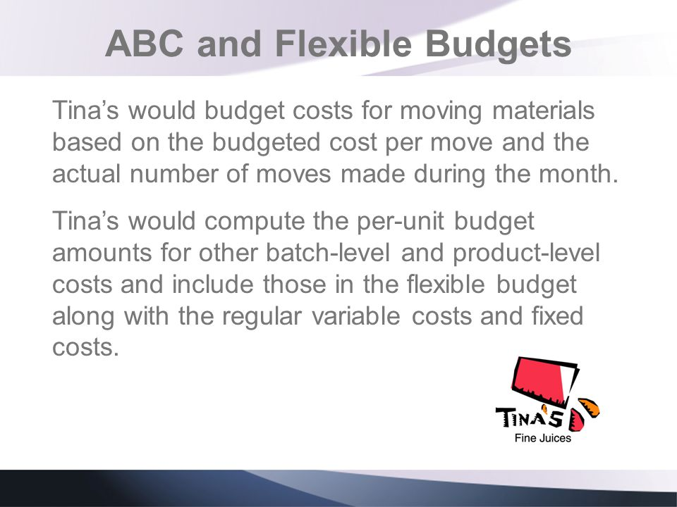 ABC and Flexible Budgets