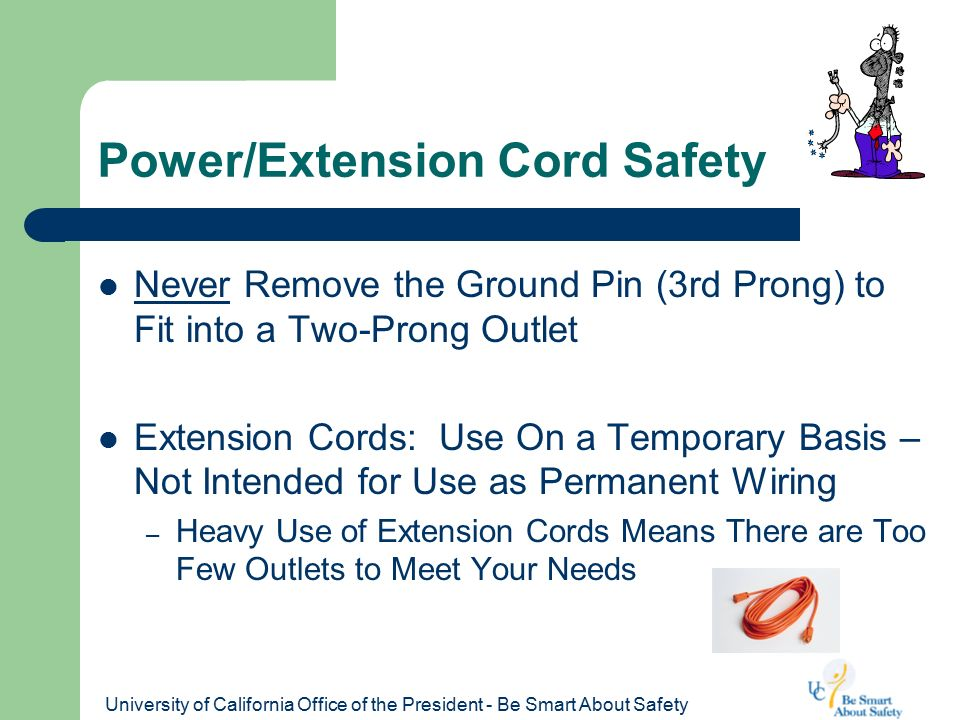 Power Cord Safety : Office and home electrical safety ppt video online download