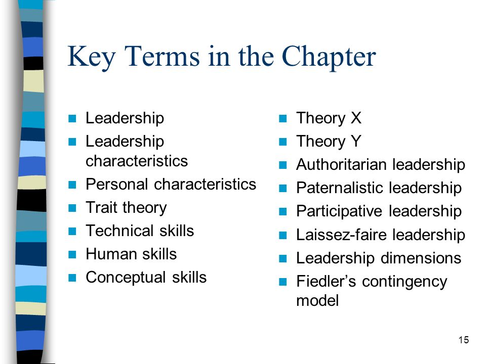 Key Terms in the Chapter