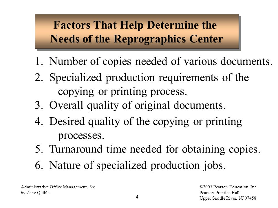 Factors That Help Determine The Needs Of The Reprographics Center