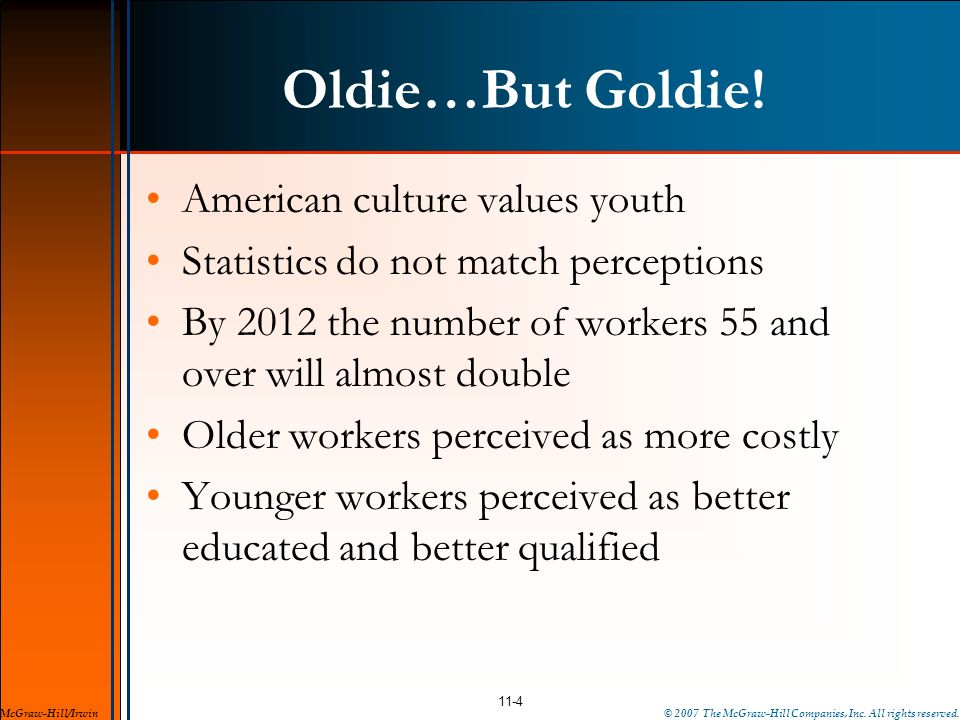Oldie…But Goldie! American culture values youth