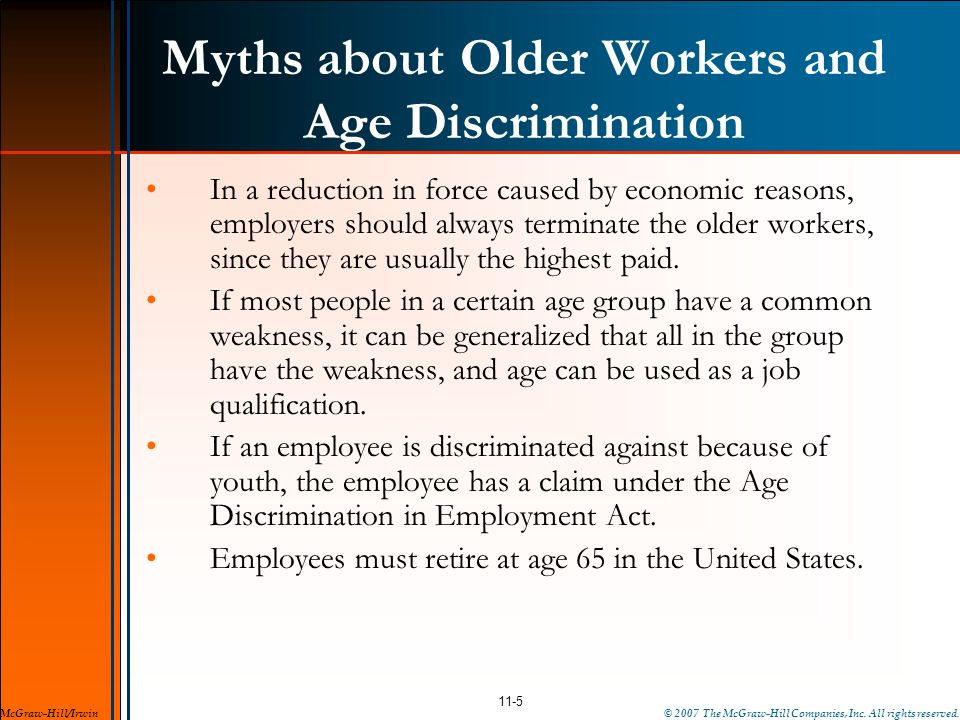 Myths about Older Workers and Age Discrimination
