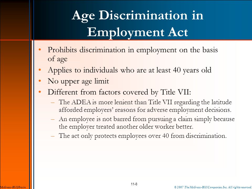 Age Discrimination in Employment Act