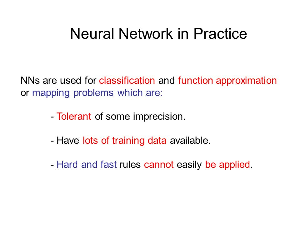 Neural Network in Practice