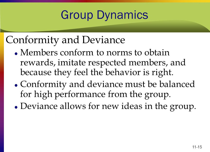 Group Dynamics Conformity and Deviance
