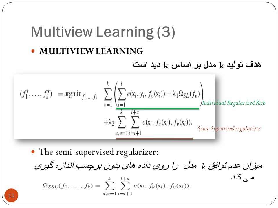 Multiview Learning (3) MULTIVIEW LEARNING