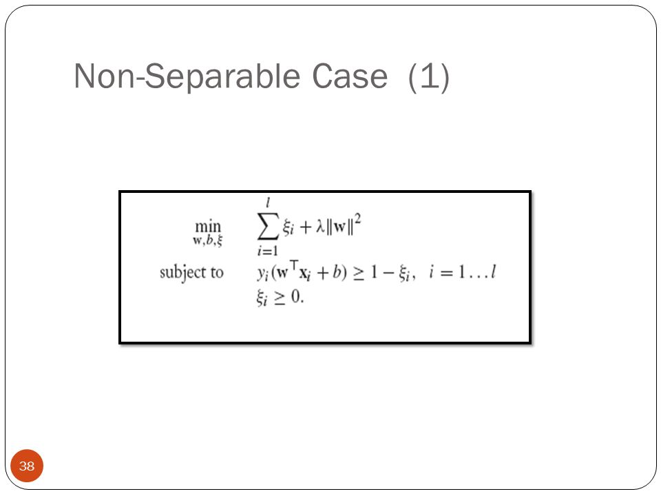 Non-Separable Case (1)