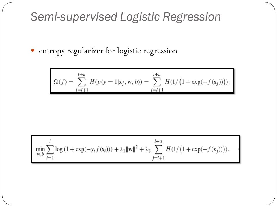 Semi-supervised Logistic Regression