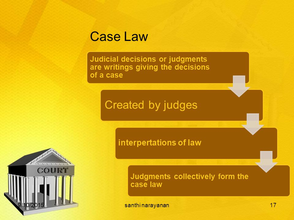 case law and the doctrine of Nevertheless, article 16 of the civil code states that case‑law 'shall complement  the legal system with the doctrine which is repeatedly.