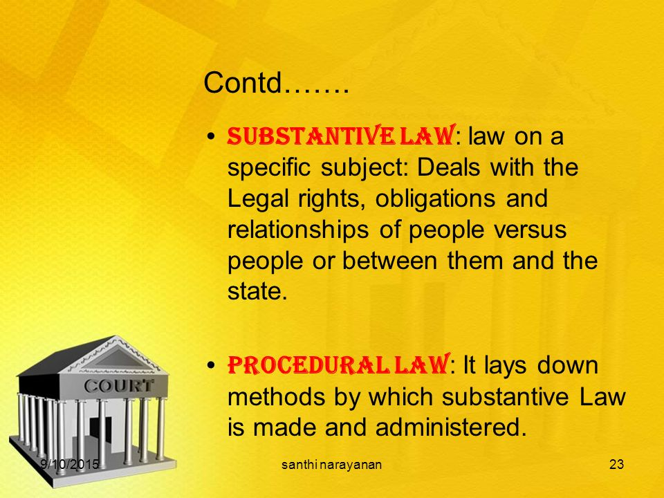 substantive and procedural law relationship
