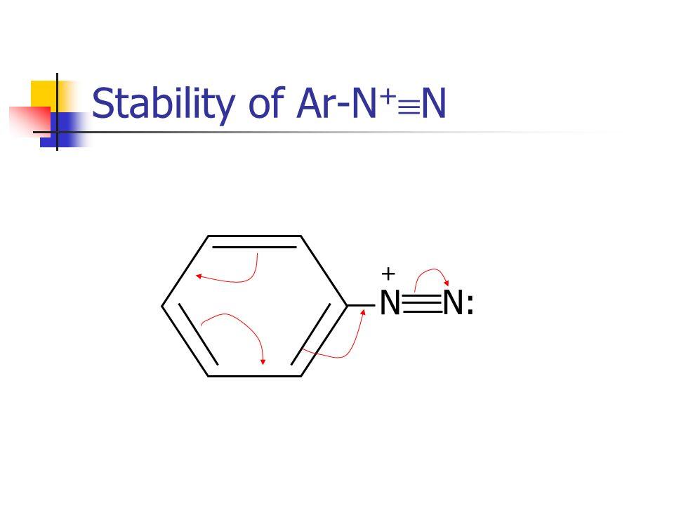 Stability of Ar-N+N N N: +