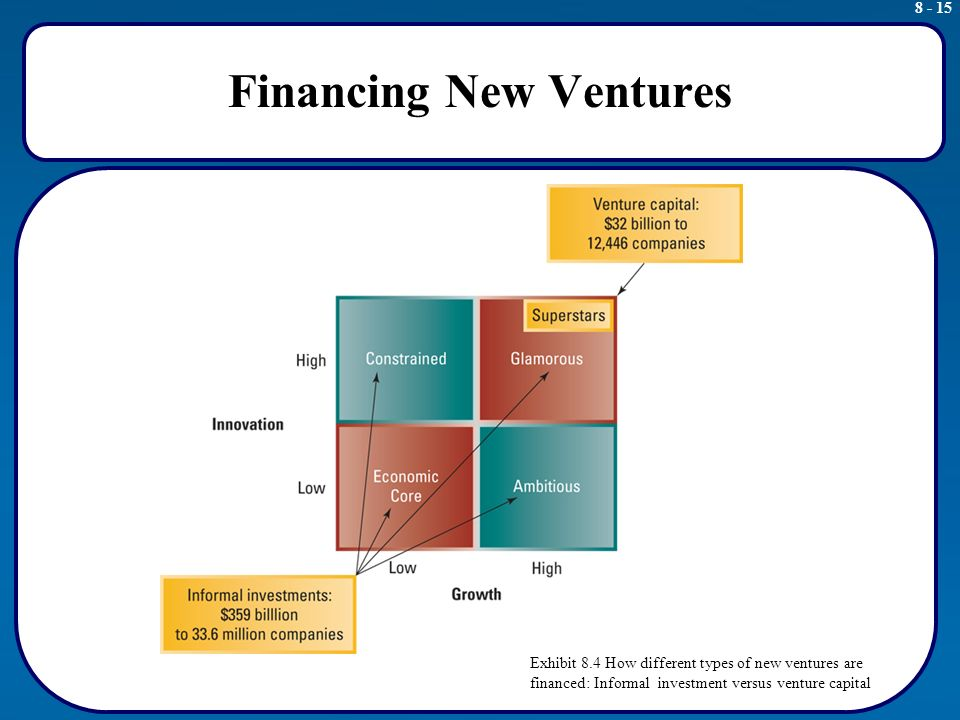 financing new ventures New venture valuation by venture capitalists: an by venture capitalists: an integrative approach stage venture capital financing in 210 new ventures.
