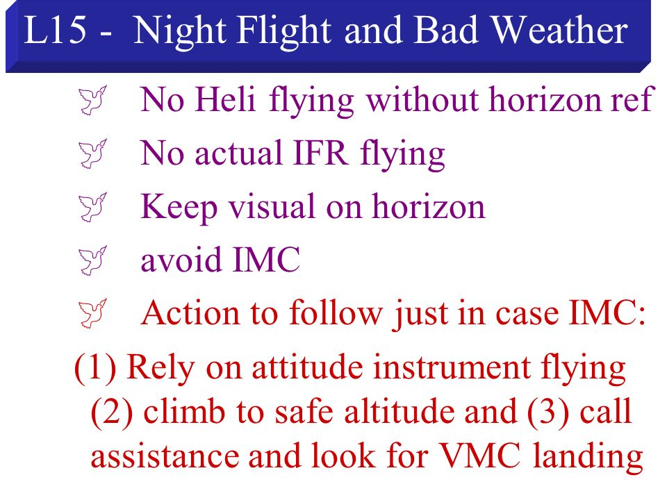 L15 - Night Flight and Bad Weather