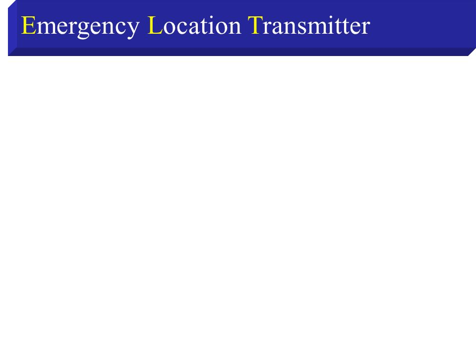 Emergency Location Transmitter