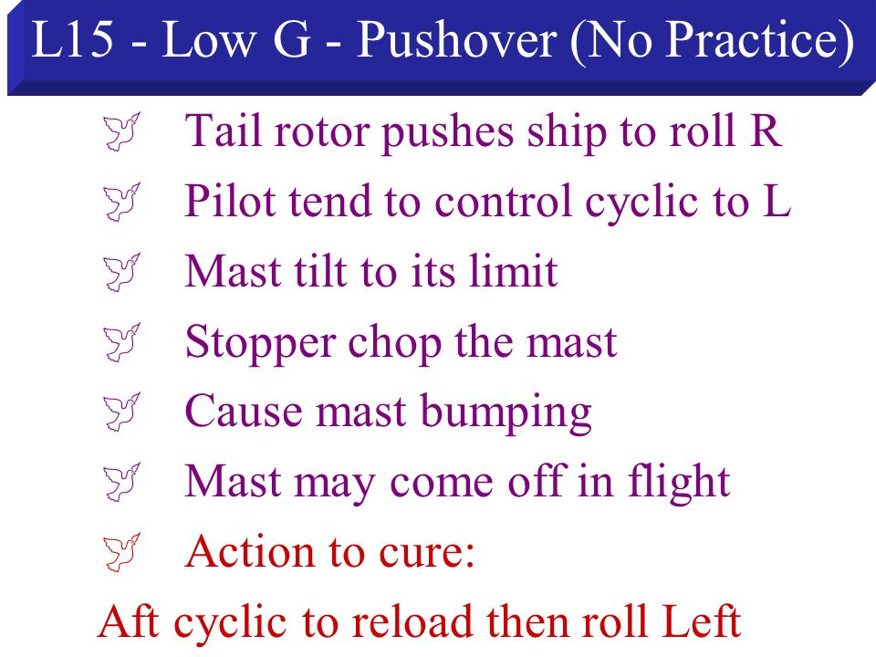 L15 - Low G - Pushover (No Practice)