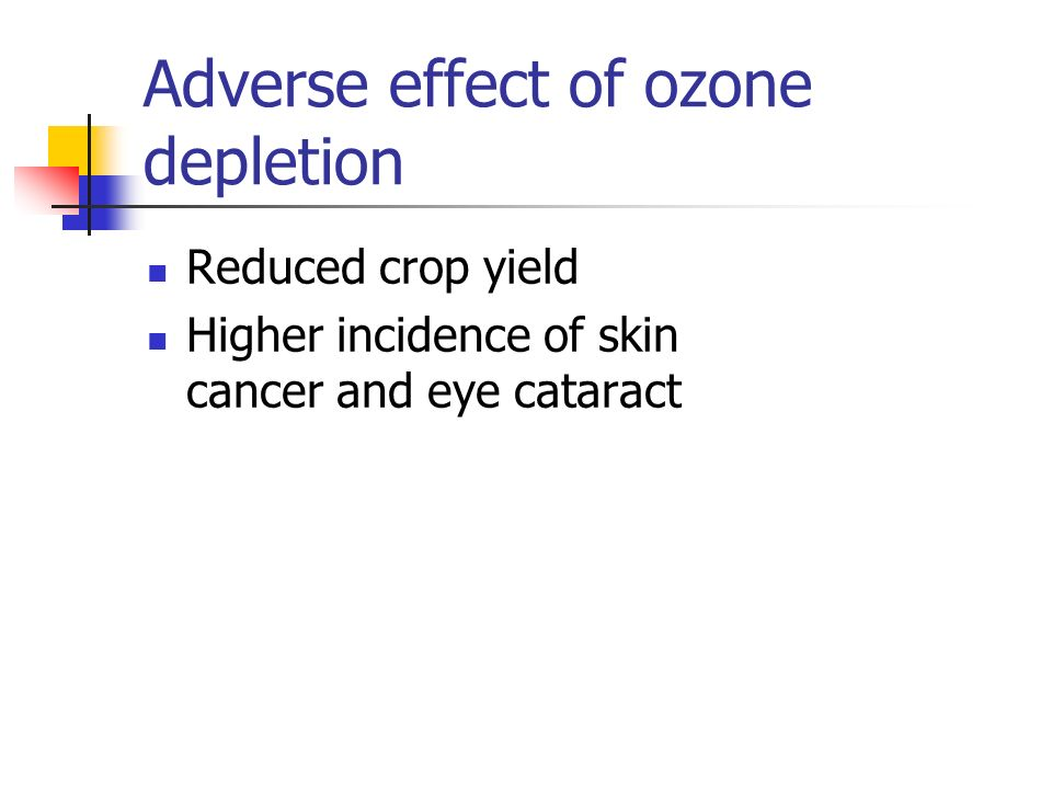 Adverse effect of ozone depletion