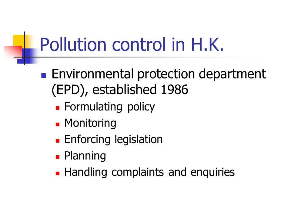 Pollution control in H.K.