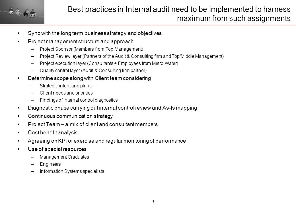 Best practices in Internal audit need to be implemented to harness maximum from such assignments