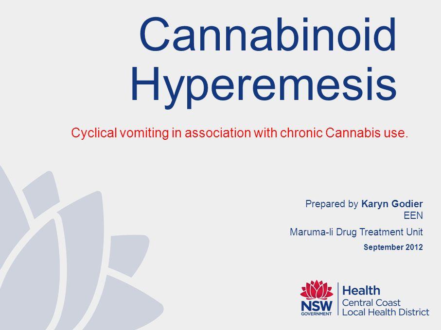 Cannabinoid Hyperemesis