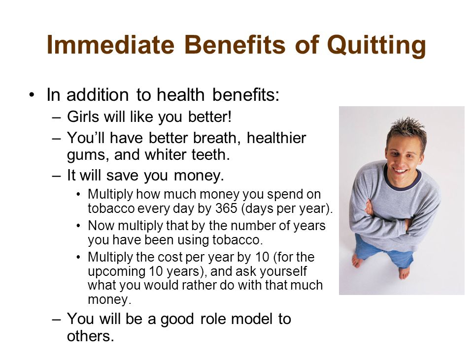 Immediate Benefits of Quitting