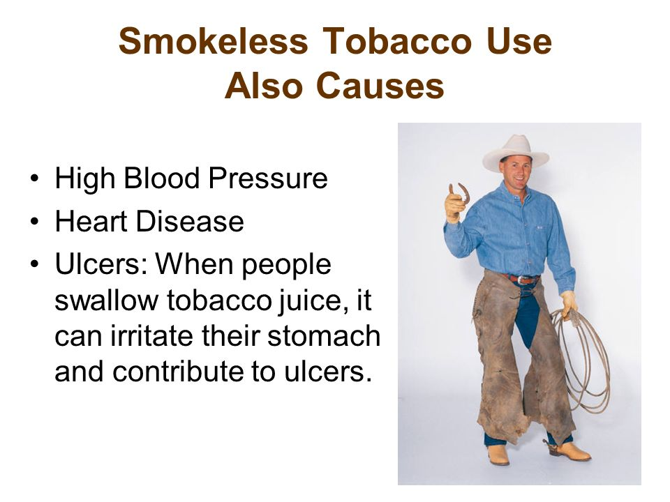 Smokeless Tobacco Use Also Causes