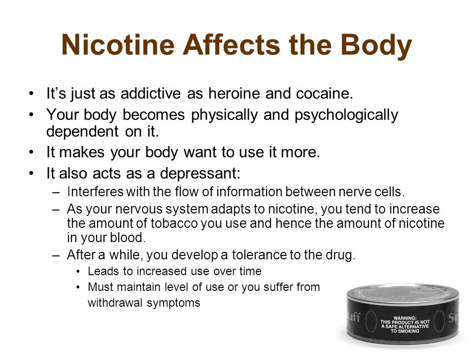 Nicotine Affects the Body