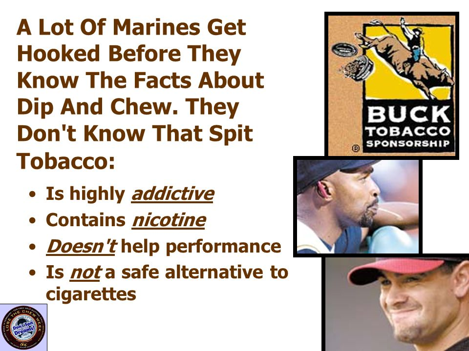 A Lot Of Marines Get Hooked Before They Know The Facts About Dip And Chew. They Don t Know That Spit Tobacco: