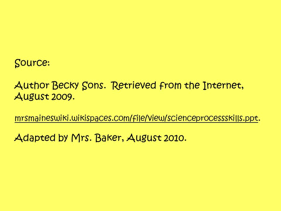 Author Becky Sons. Retrieved from the Internet, August 2009.