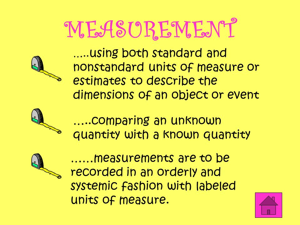 MEASUREMENT …..comparing an unknown quantity with a known quantity