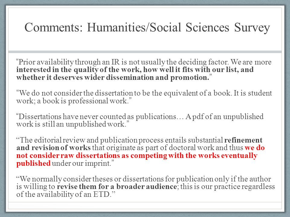Dissertation abstracts international a the humanities