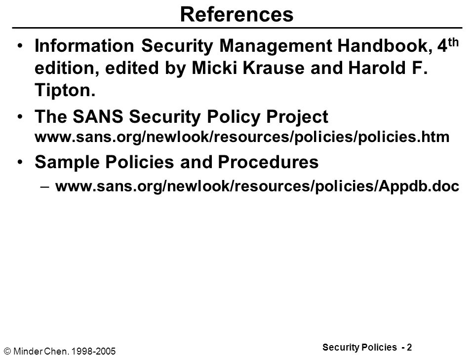 Security Policies And Procedures  Ppt Download